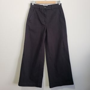 Everlane high rise cropped wide leg jeans black 6